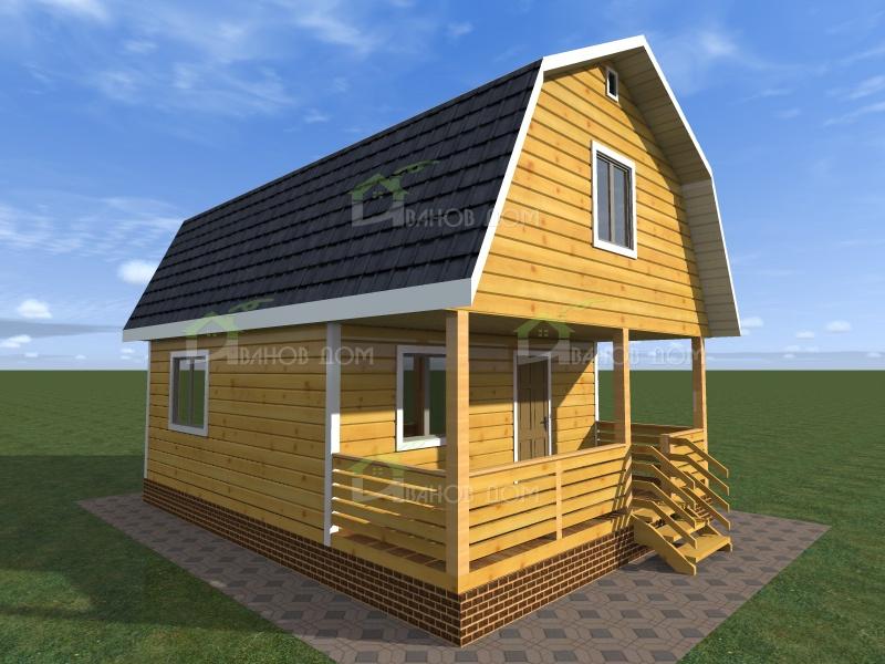 Дома из бруса под ключ недорого проекты и цены на